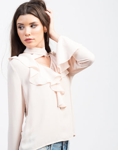 Detail of Ruffle Me Up Blouse