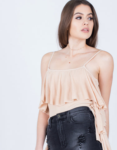 Detail of Ruffle Me Up Crop Top