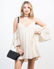 Ruffled Sleeves Vacay Dress