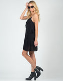 Side View of Ruffled Cami Dress