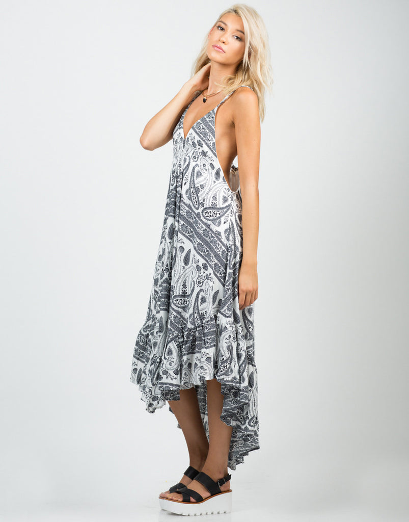 Ruffled Paisley Dress - 2020AVE