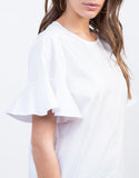 Detail of Ruffled Sleeves Top