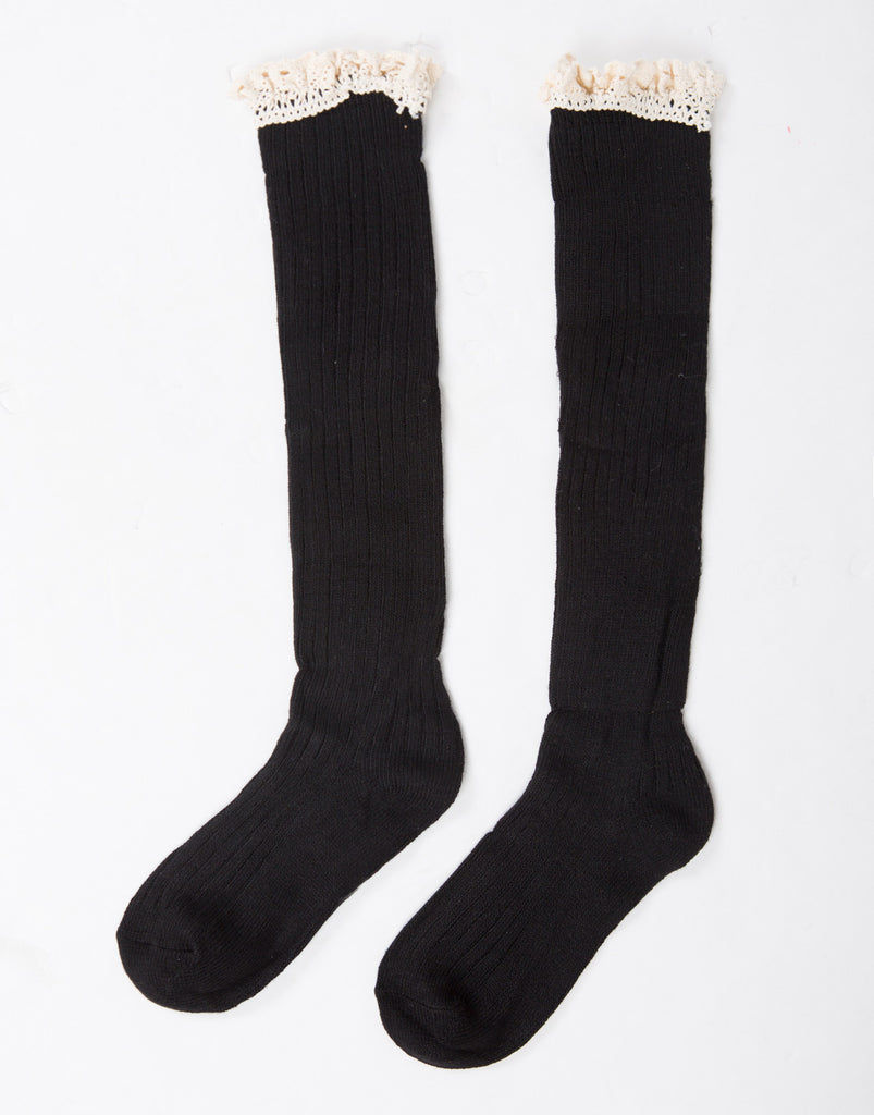 Ruffle Knee High Socks - 2020AVE