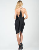 Back View of Ruffle Party Dress