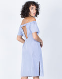 Blue Sail Away Striped Dress - Back View