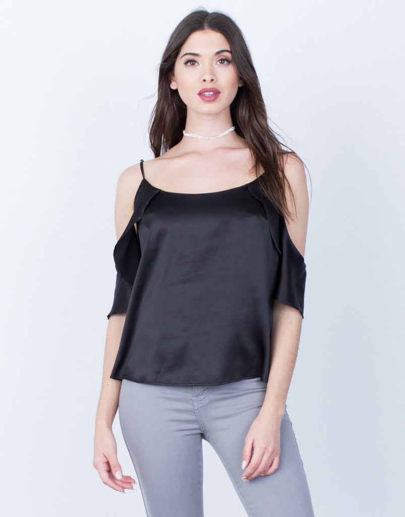 Satin Cold Shoulder Cami - 2020AVE