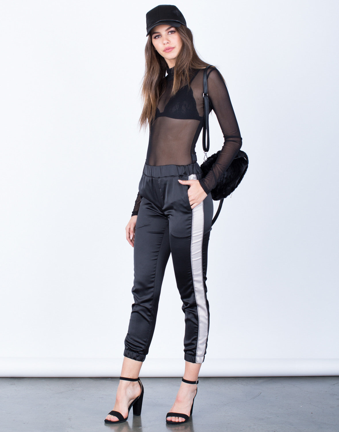 Satin Contrast Pants