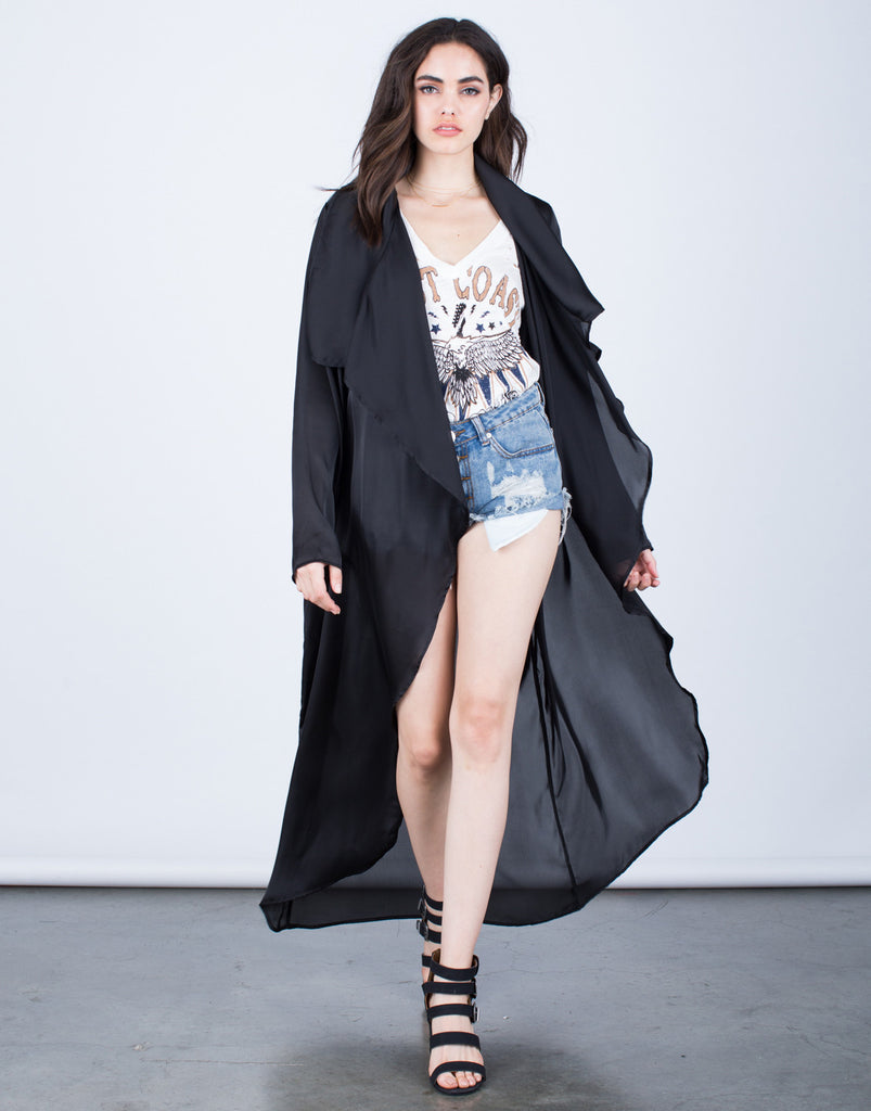 Satin Duster Cardigan - 2020AVE