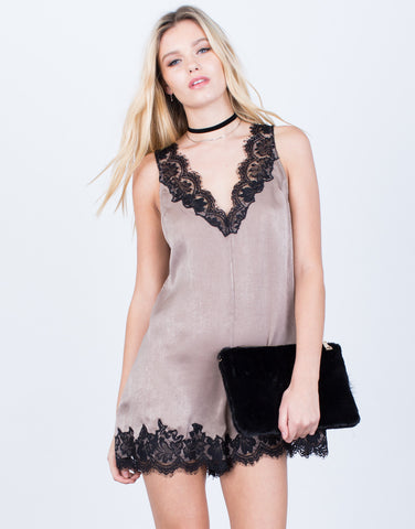 Satin Lace Romper - 2020AVE