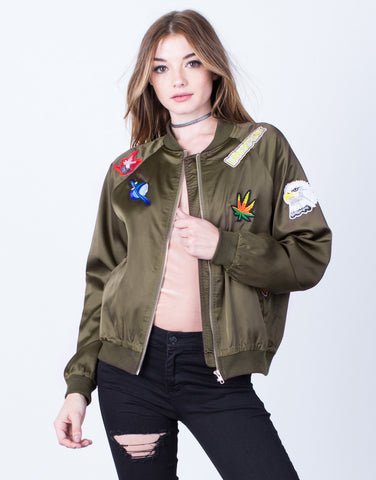 Satin Patched Bomber