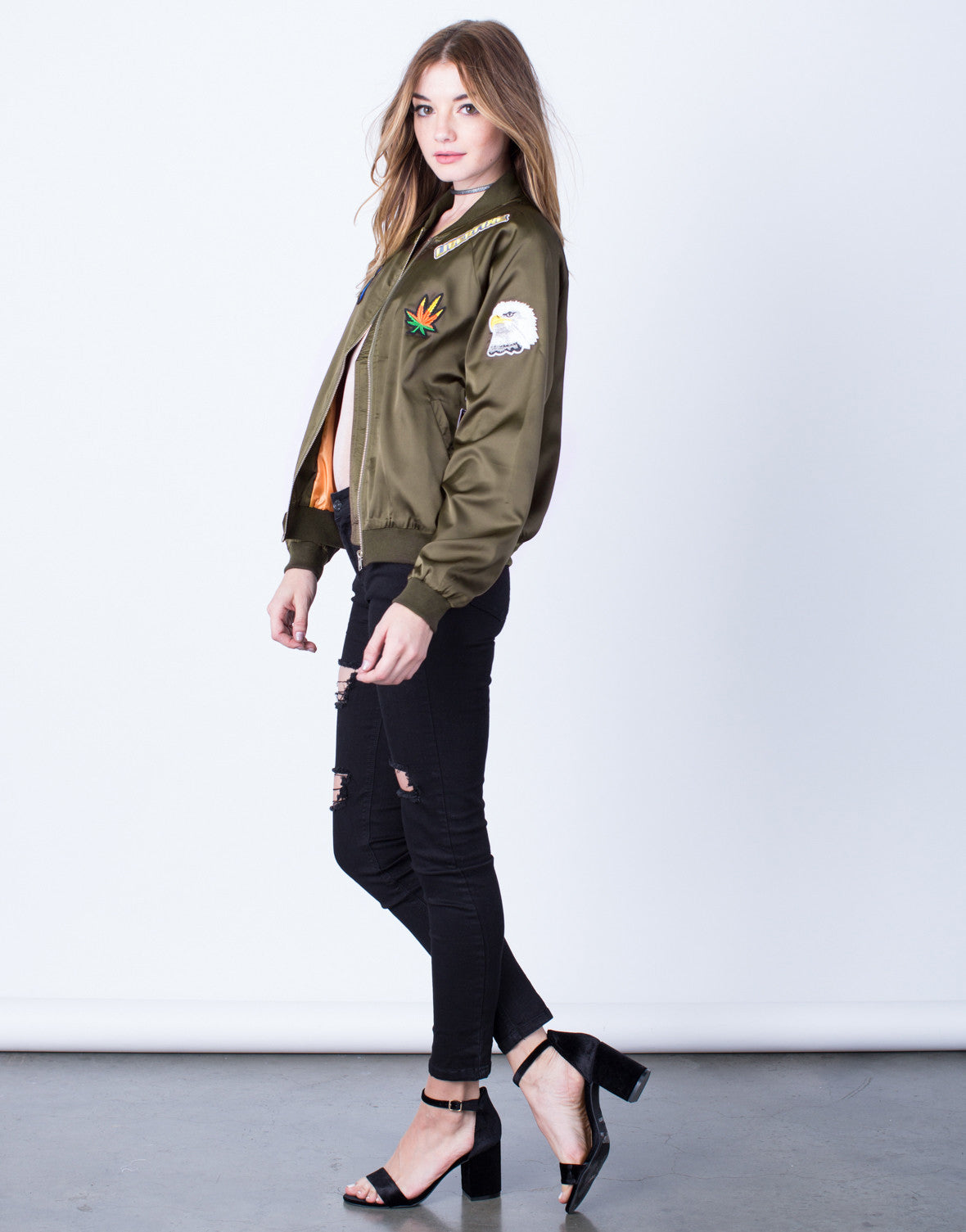Satin Patched Bomber - 2020AVE