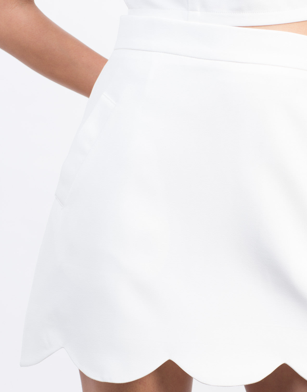Detail of Scallop Mini Skirt