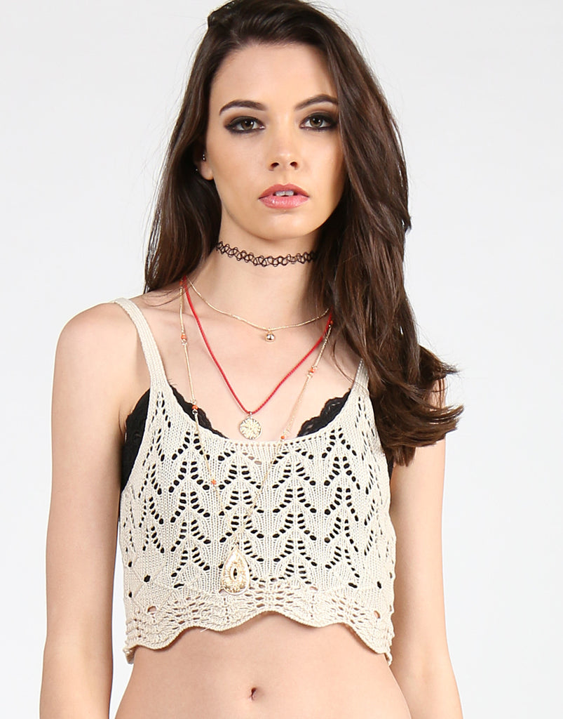 Scalloped Crochet Top - 2020AVE