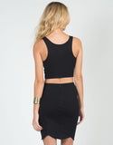 Back View of Scalloped Crop Top