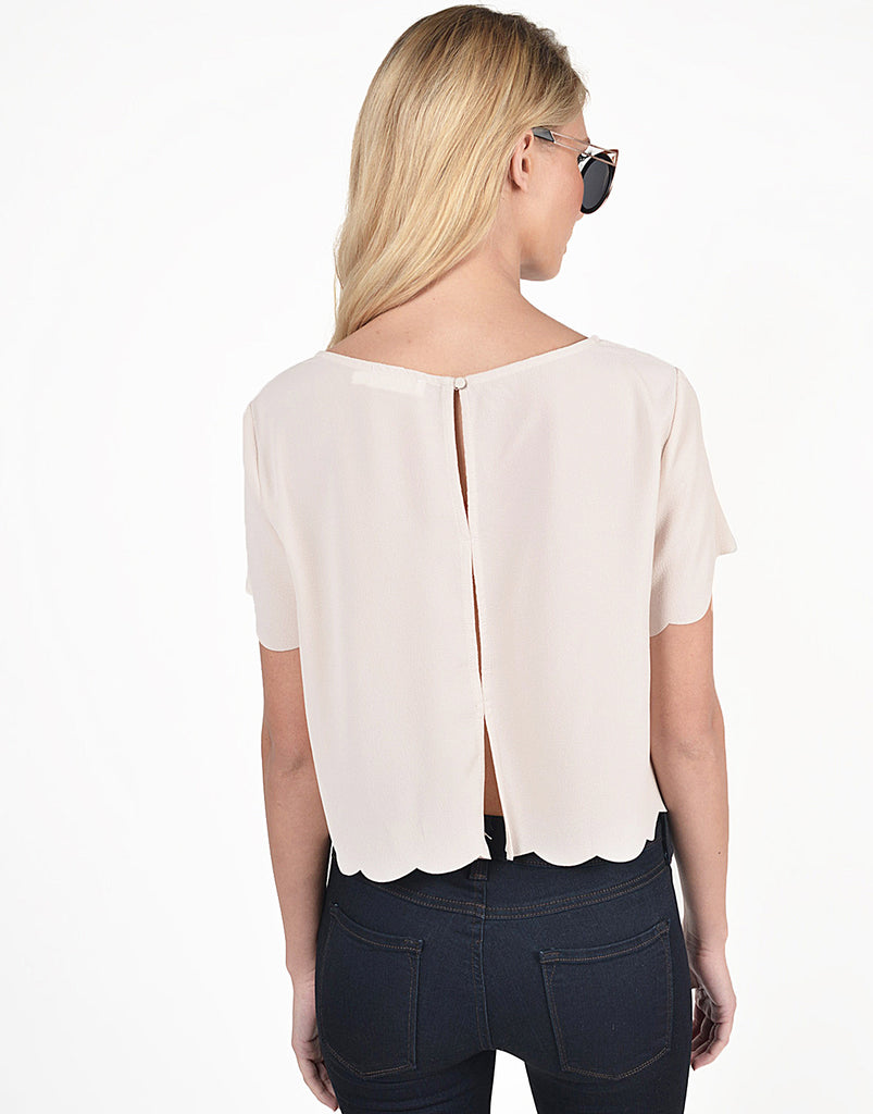 Scalloped Detail Blouse - 2020AVE