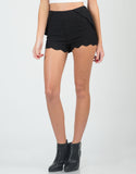 Front View of Scalloped Shorts