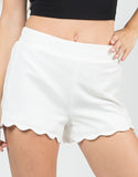 Detail of Scalloped Woven Shorts