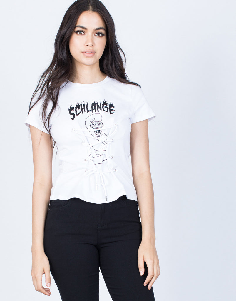 Front View of Schlange Graphic Tee