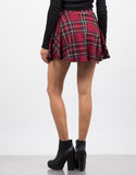 Back View of School Girl Skirt