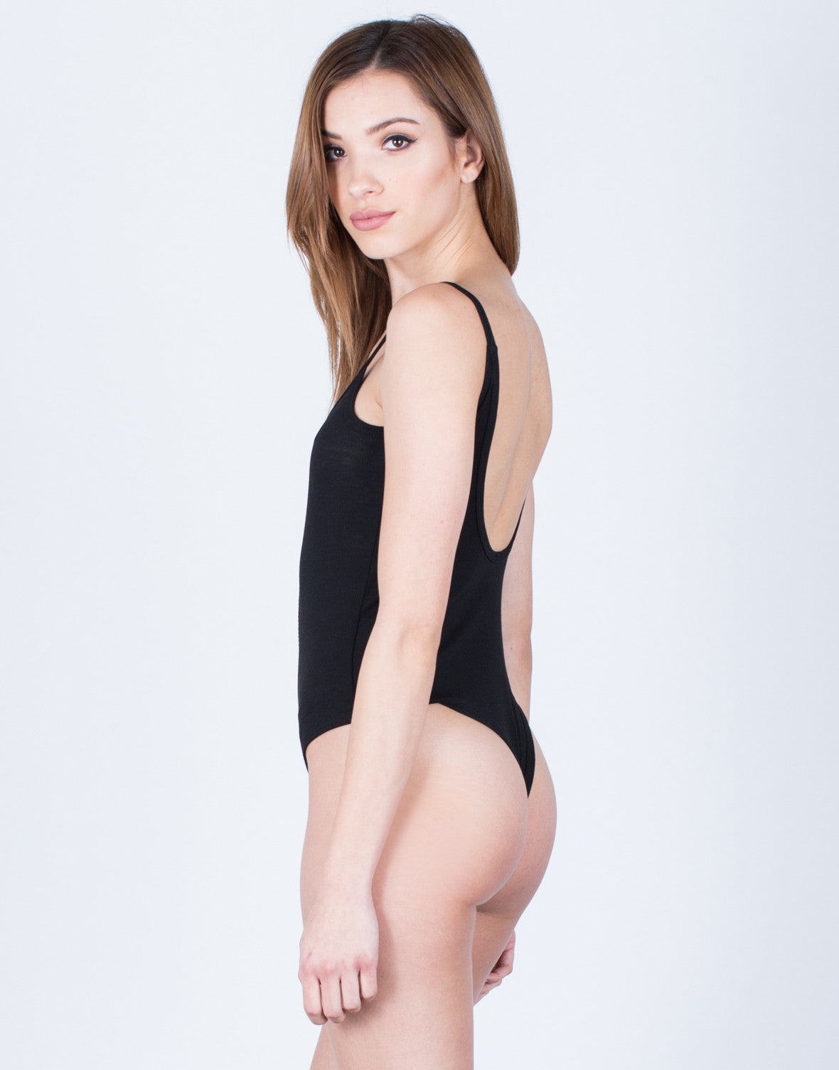 Back View of Scoop Back Bodysuit