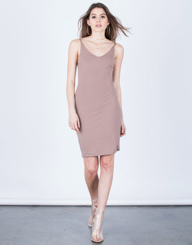 Scoop Back Party Dress