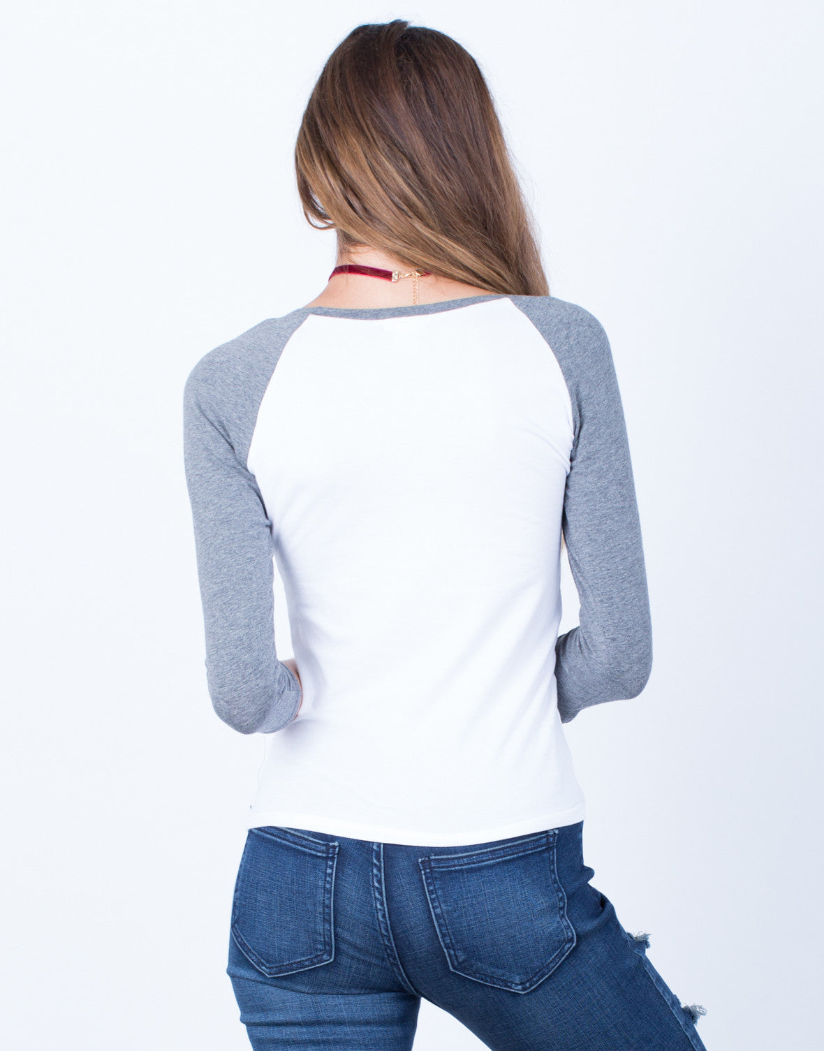 Back View of Scoop Me Up Baseball Top