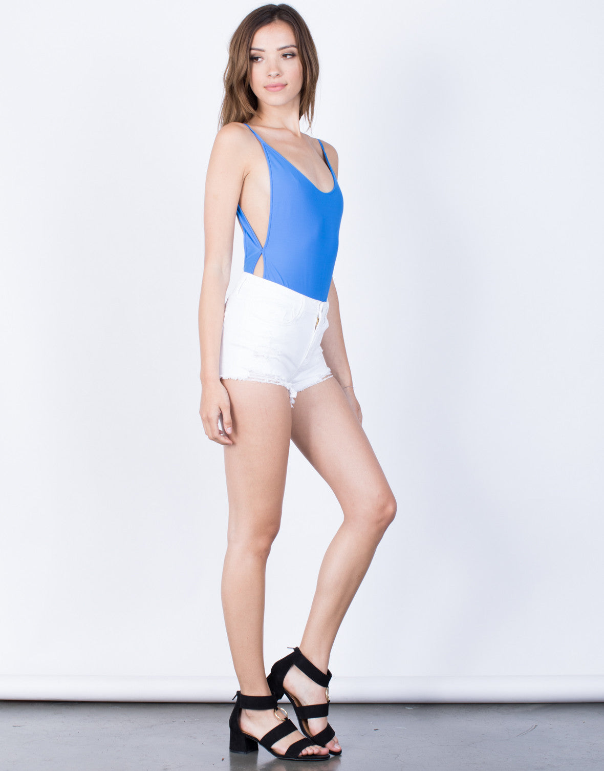 Side View of Scoop Me Up Bodysuit