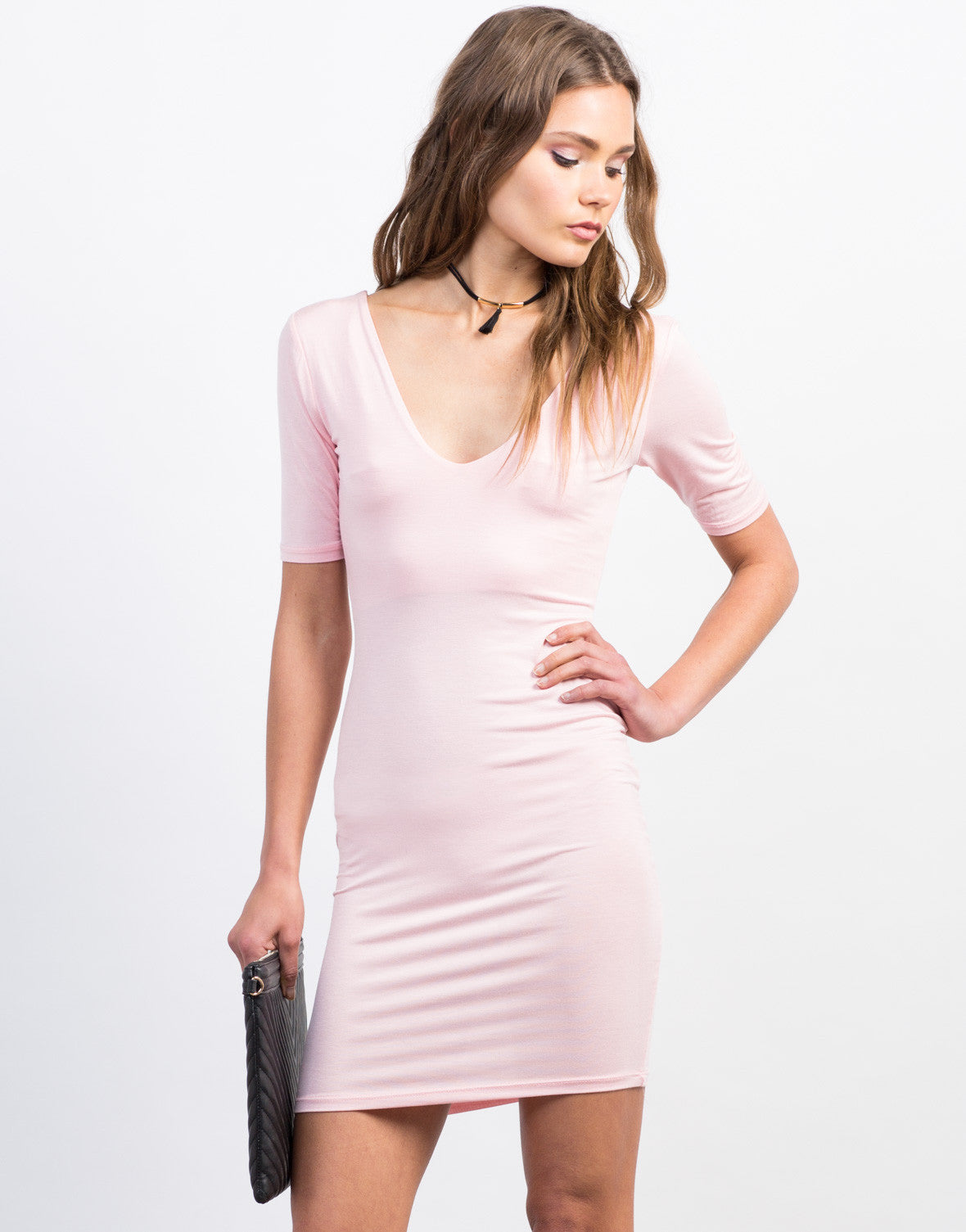 Front View of Scoop Neck Day Dress