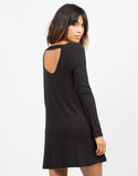 Back View of Scoop Back Everyday Dress