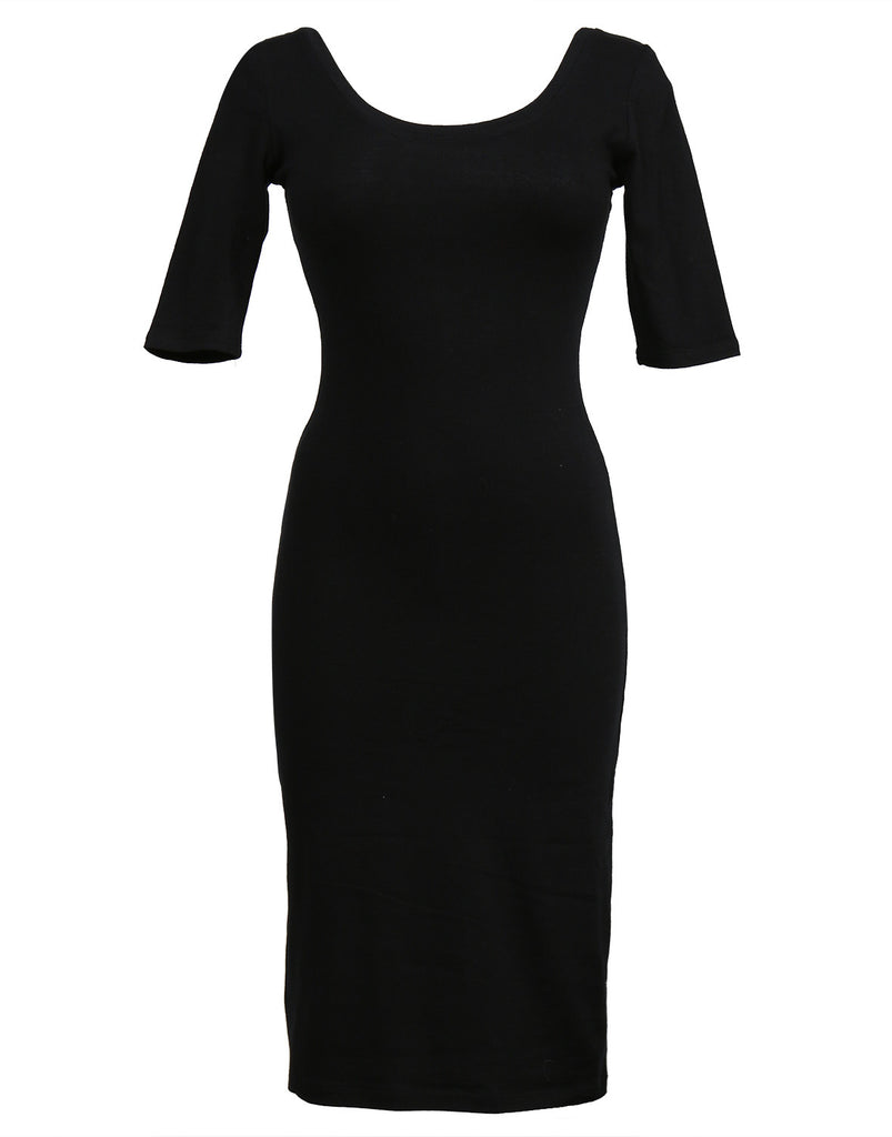 Scoop Neck Bodycon Dress - 2020AVE