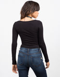 Back View of Scoopneck Bodysuit