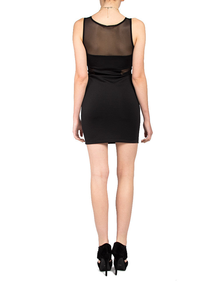 Screen Peep Fitted Dress - 2020AVE