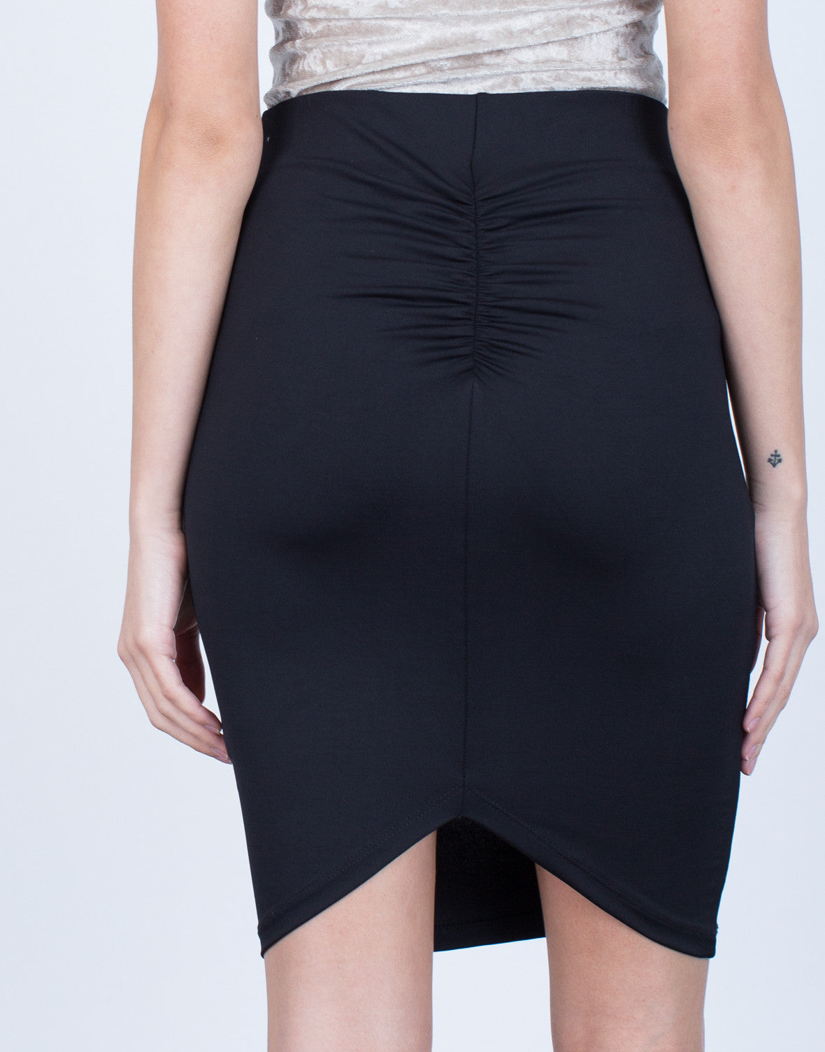 Detail of Scrunch Back Bodycon Skirt