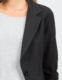 Detail of Scrunched Sleeves Blazer