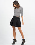 Side View of Scuba Mini Skater Skirt