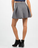 Back View of Scuba Mini Skater Skirt