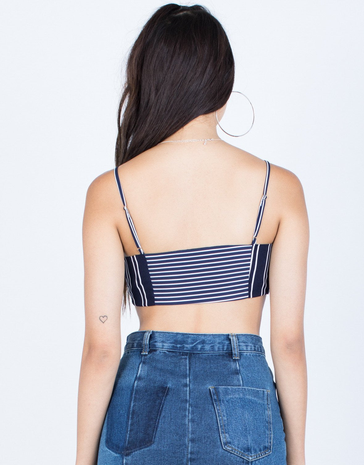 Seafront Striped Crop Top - 2020AVE