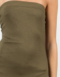 Detail of Seamless Strapless Midi Dress