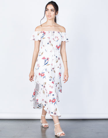 Front View of Secret Garden Floral Dress