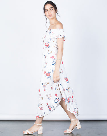 Side View of Secret Garden Floral Dress