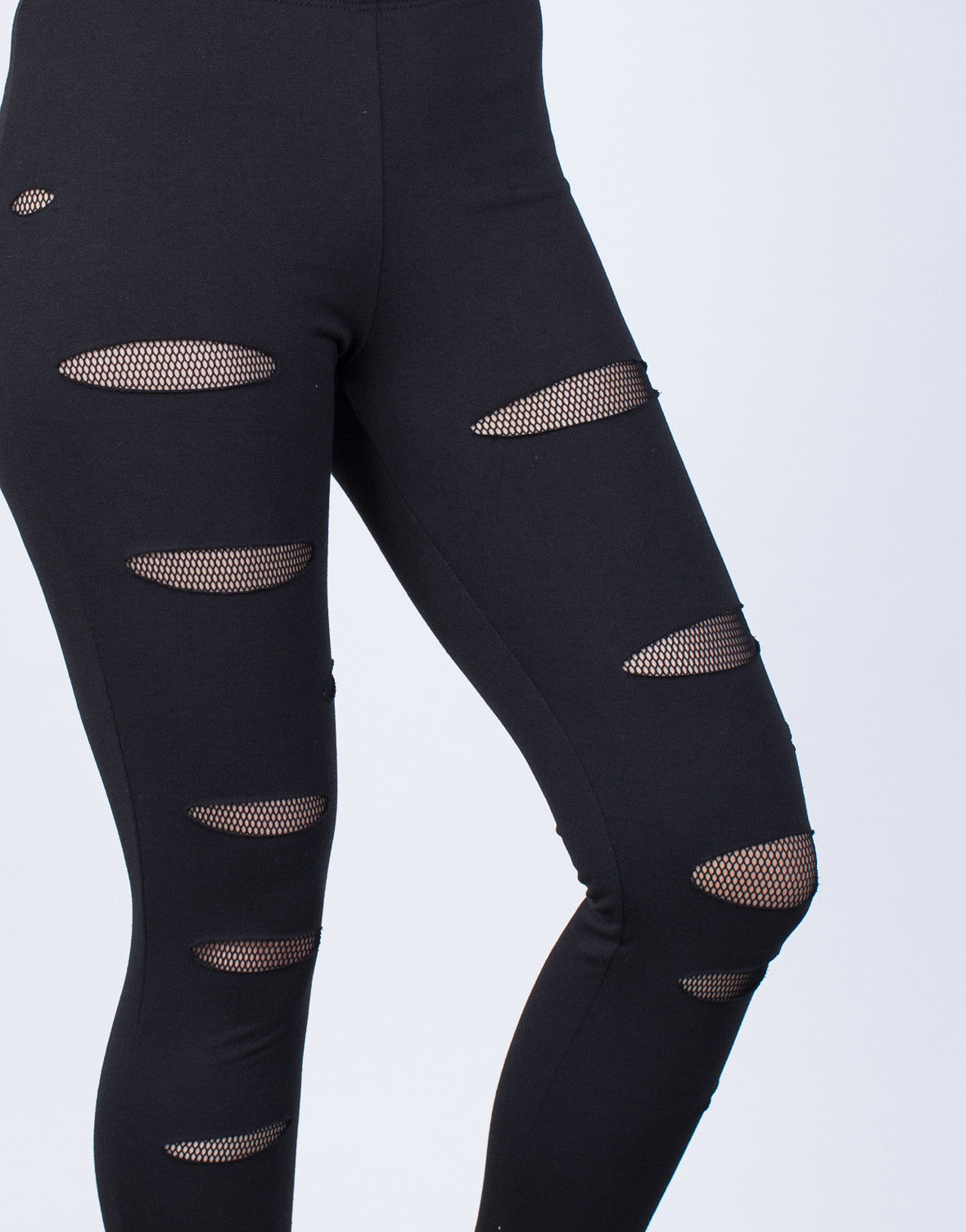 Detail of See Through Net Joggers