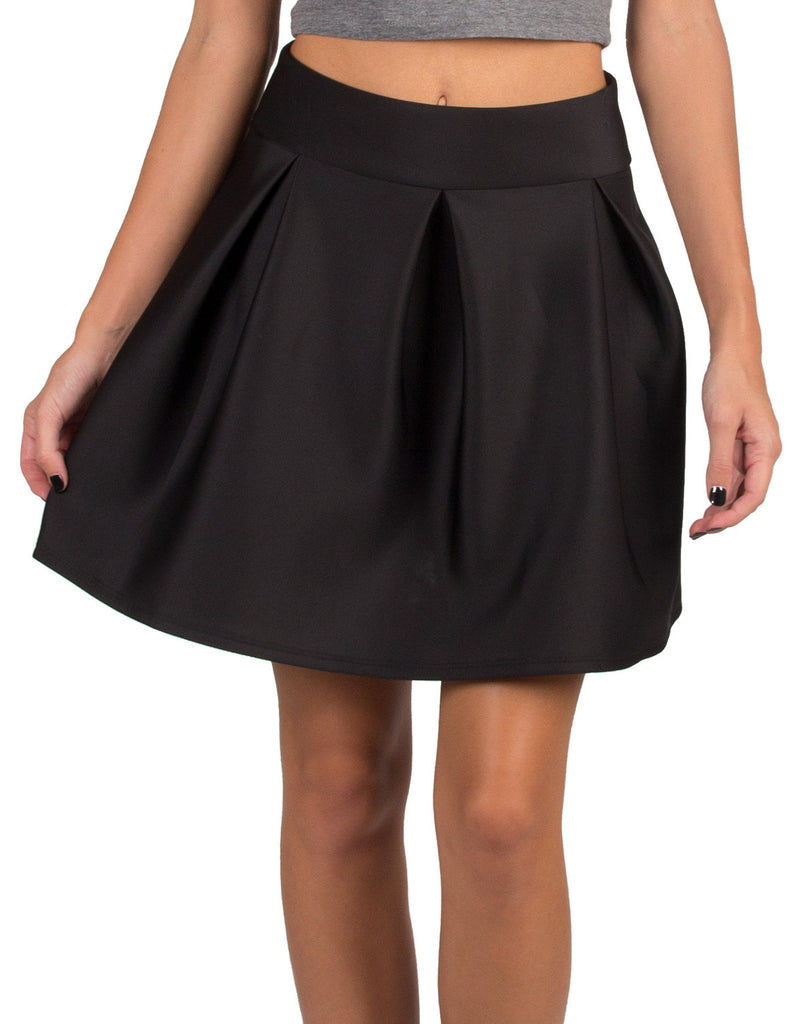 Semi Pleated A-Line Skirt  - Large - 2020AVE