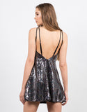 Back View of Sequin Halter Dress