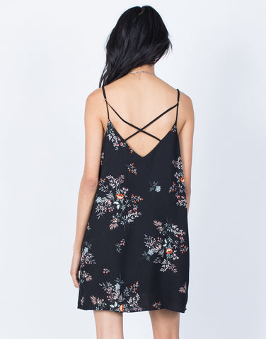 Black Serene Shift Dress - Back View
