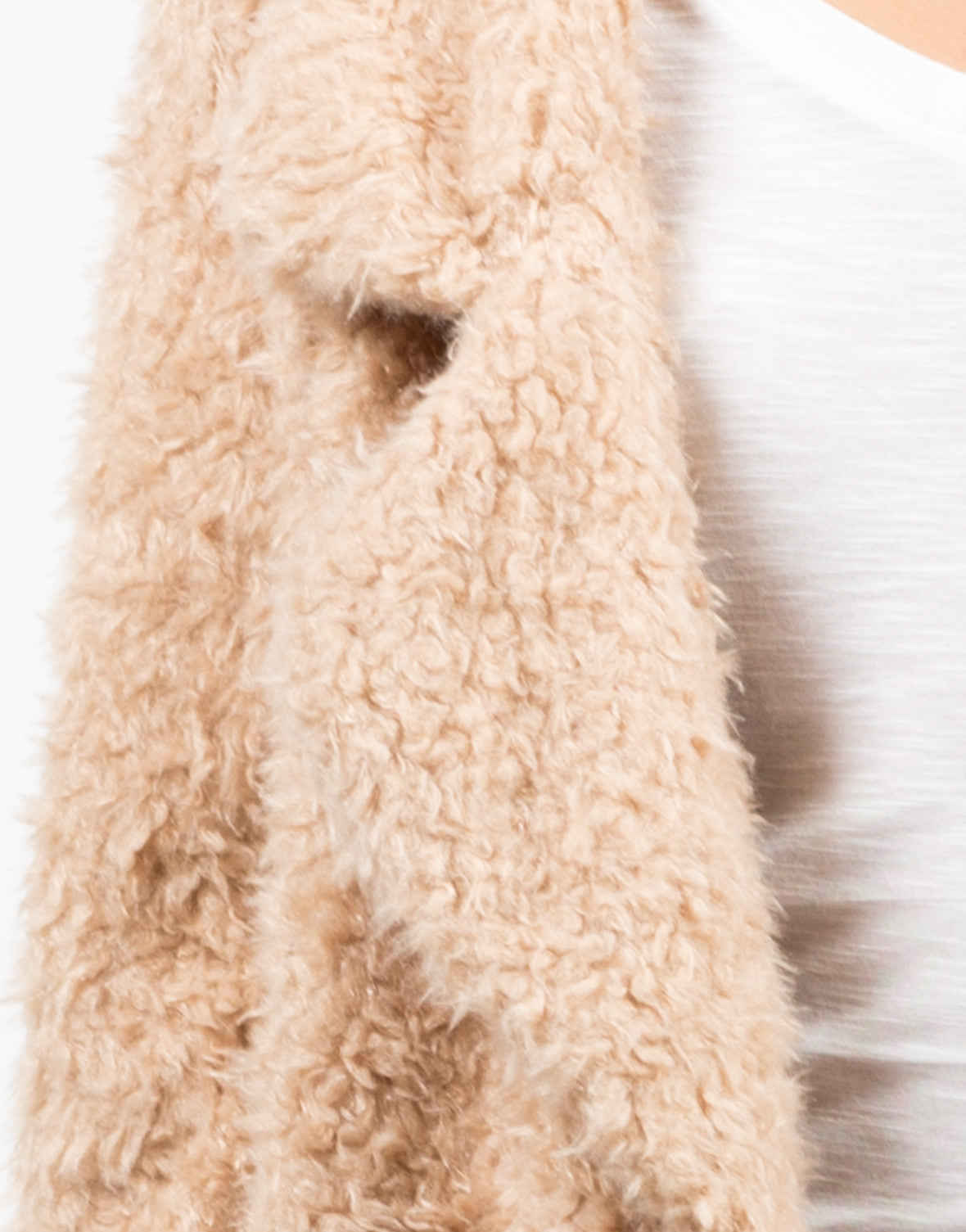 Detail of Shaggy Faux Fur Jacket