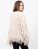 Back View of Shaggy Fur Jacket