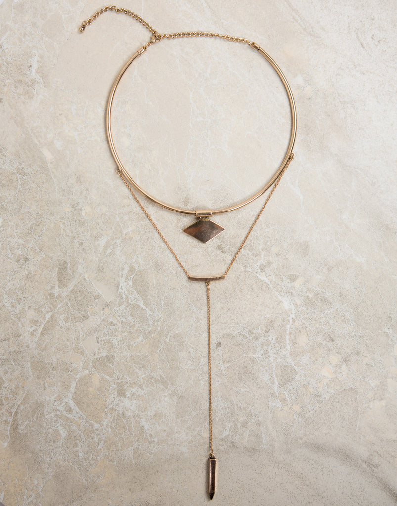 Shaped Collar Layered Necklace - 2020AVE
