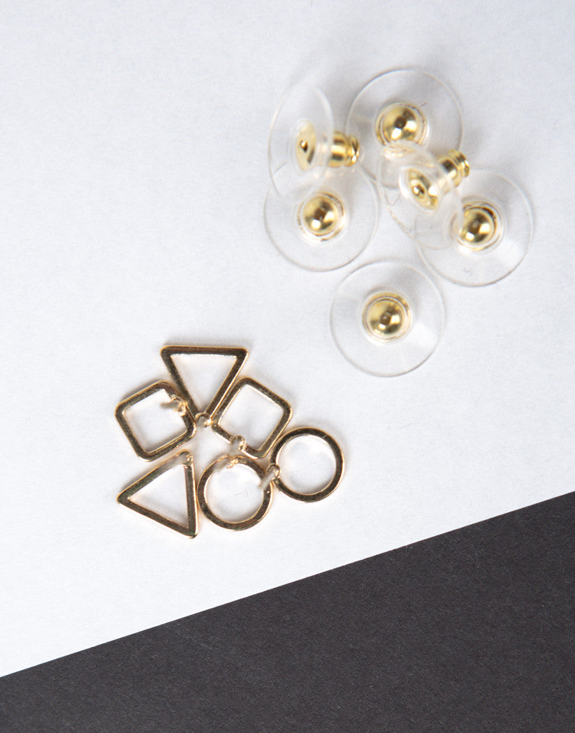 Detail of Shaped Stud Earring Set