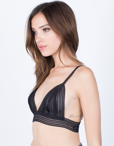 Side View of Sheer Lines Bralette