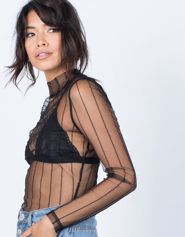 Detail of Sheer Nights Out Bodysuit
